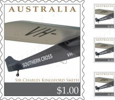 Kingsford Smith Stamp ::1:: by Digital-Anarchist
