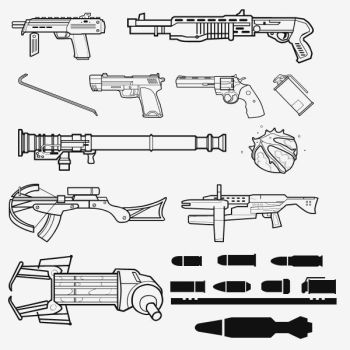 Half Life 2 Weapon Shapes by Zeptozephyr