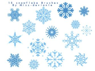15 SNOWFLAKE BRUSHES by Miss-deviantE
