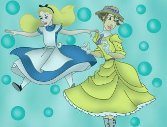 Request 14: Alice and Jane Underwater by Disneycow82