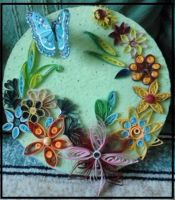 quilled flowers by 13vamps
