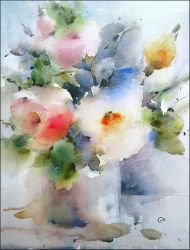 Summer Flowers by cmwatercolors