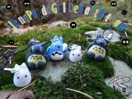 Totoro Phone Charms by FlyingPandaGirl