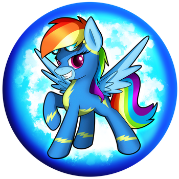 Rainbow Dash Wonderbolt Orb by flamevulture17