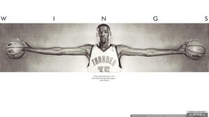 Kevin Durant Wings Wallpaper by IshaanMishra