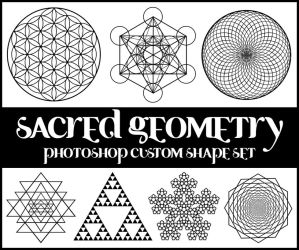 Sacred Geometry Custom Shapes by merrypranxter