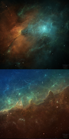 Particle Fleet: Emergence (Commission) by cosmicspark