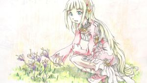 Lailah Colored Pencil 2015 by bradlycolin