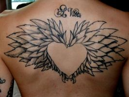 Wings Tattoo by delinkuent