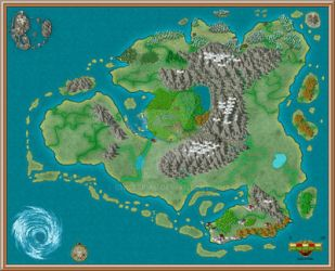 Map for Fantasy book by GhostPhil