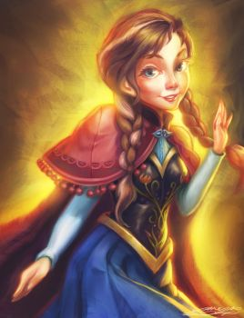 Anna Frozen by youngae