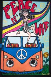 My Hippie Van and Me :3 by Vamdemona