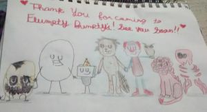 Thank you for coming to Flumpty Bumpty's! by K1NG-KR3B