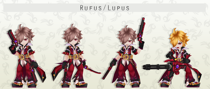 MMD Rufus/Lupus Pack + DL by NaraShadows