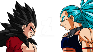 Raditz Vs Vegeta by MalikStudios