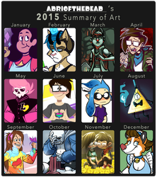 2015 Art Summary by AdriOfTheDead