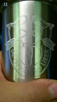 Army Special Forces engraved Ozark tumbler by WoodsMachine