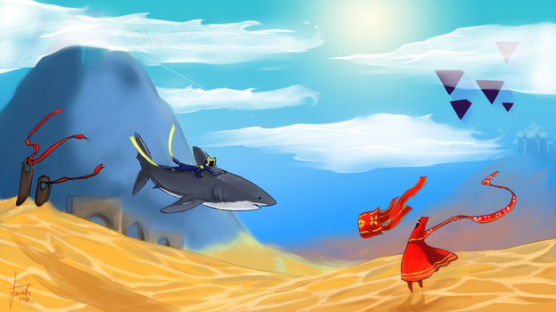 Desert ocean - ABZU/Journey by farris