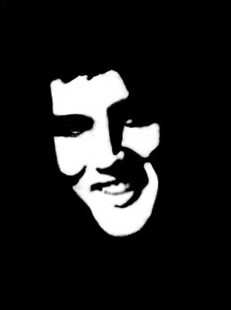 Elvis Stencil by aphasia100stock
