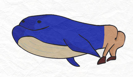 Buttwhale by nattoons
