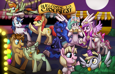 Ciderfest: Guest of Honor Group Poster by Sciggles