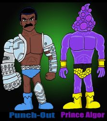 Punch Out and Prince Algor by Lordwormm