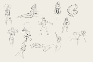 More 2-minute gesture drawing by pcenero