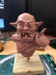WIP - Orc Bust - Monster Clay by CultureSculpts