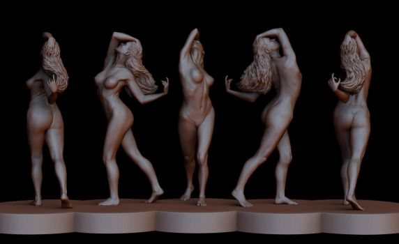 Classical Female Sculpture in Zbrush by fr3dosART