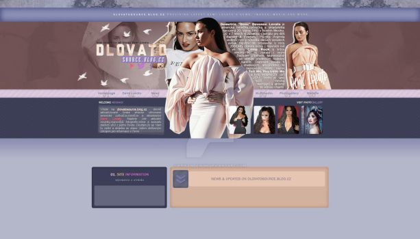 Blog layout for dlovatosource.blog.cz by ErikaMDesign