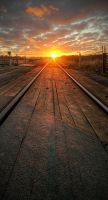 Sunrise on the Line by wreck-photography