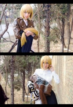 Shingeki no Kyojin: Armin in Disguise SPOILER by Green-Makakas