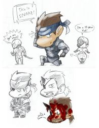 MGS Sketches by AIBryce