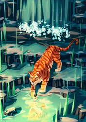 Golden Tiger by meowmeowmelody