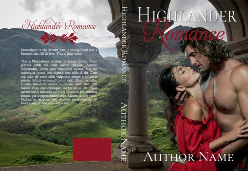 Highlander romance pre-made book cover by LadyArtemis78