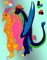 Two Newly Colored Dragons by Quachir