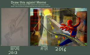 Draw This Again: Spidey by Ha1f-B1ood