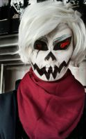underfell Papyrus cosplay makeup by Thesuperninjax