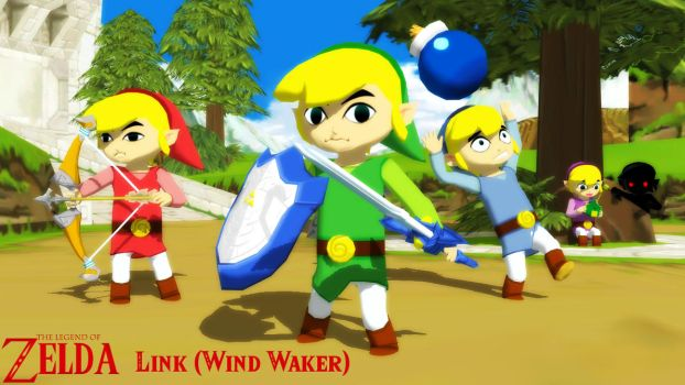 (MMD/XPS Model) Link (Wind Waker) Download by SAB64