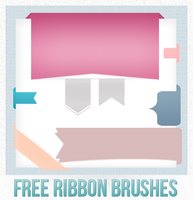 Free Ribbon-Brushes by cafealacannelle
