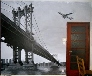 manhattan wall painting by Tit-Flo