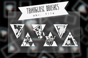 +Trianglose Brushes. by Upwithebirds