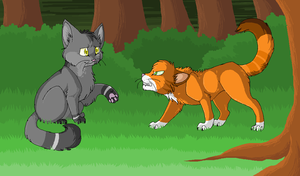 Graypaw and Rusty by cherohero
