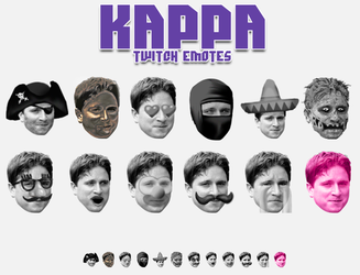 Kappa Twitch Emotes by Th3Sixth