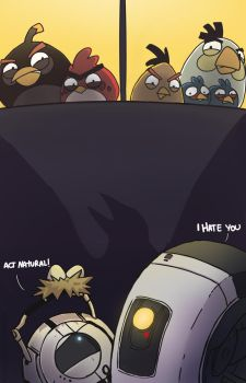 Portal meets Angry Birds by Gladosy
