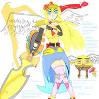 Legendary Valkyrie Maiden, Jennifer Lee and Ozi by JenniferLee1991