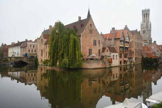Bruges canal reflections 2 by wildplaces