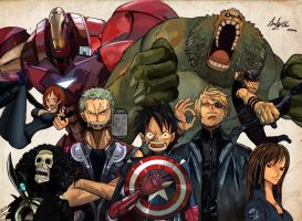 One Piece Avengers by AndiMoo