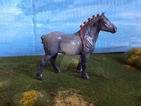 Customized Model Horse Percheron by popmaster101