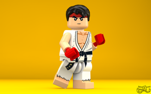 LEGO Smash Bros. - Ryu by Concore